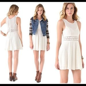 Free People Size 12 Daisy Waist Mini Dress